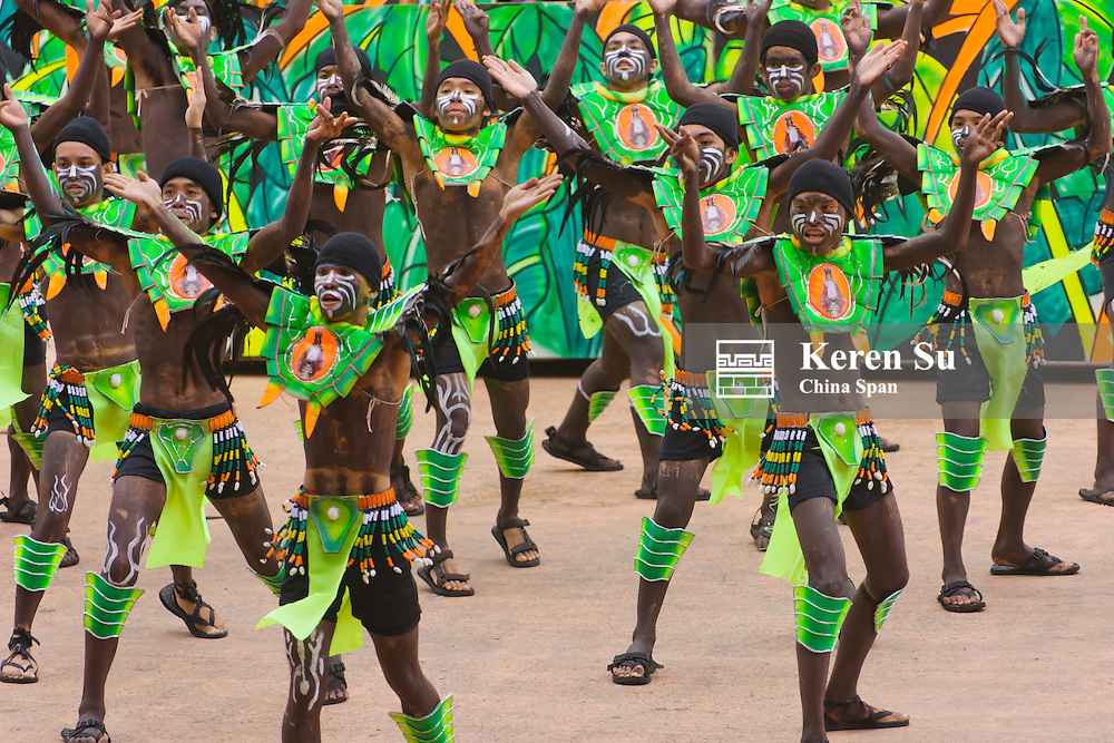 Parade at Dinagyang Festival, City of Iloilo, Philippines