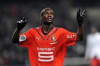 FOOTBALL - FRENCH CHAMPIONSHIP 2009/2010  - L1 - STADE RENNAIS v PARIS SAINT GERMAIN - 19/12/2009 - PHOTO PASCAL ALLEE / DPPI - JOY ISMAELA BANGOURA (REN) AFTER HIS GOAL