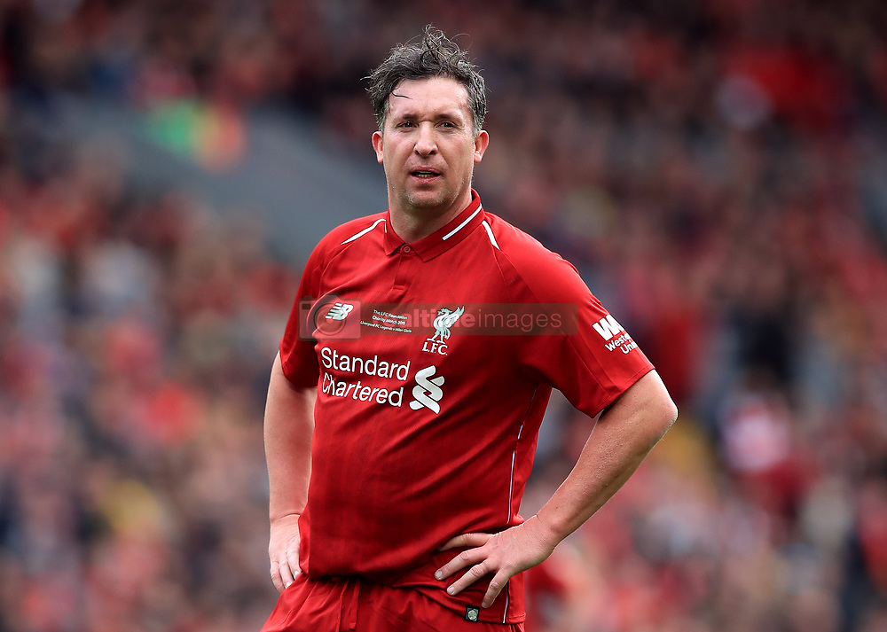 Liverpool's Robbie Fowler during the Legends match at Anfield Stadium, Liverpool.