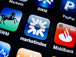 detail of Royal Bank of Scotland banking app on iPhone screen