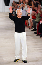 Designer Ralph Lauren at the end of his show at New York Fashion Week, Thursday, 13th September 2012. .Photo by: Stephen Lock / i-Images.