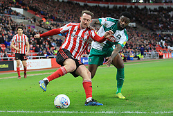 March 2, 2019 - Sunderland, England, United Kingdom - Sunderland's Aidan McGeady contests for the ball with Plymouth Argyle's Yann Songo'o during the Sky Bet League 1 match between Sunderland and Plymouth Argyle at the Stadium Of Light, Sunderland on Saturday 2nd March 2019. (Credit Image: © Mi News/NurPhoto via ZUMA Press)