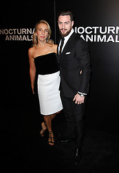 Aaron Taylor-Johnson with wife Sam Taylor-Johnson bei der Nocturnal Animals Los Angeles Premiere / 111116 ***Nocturnal Animals Los Angeles Premiere in november 11, 2016***