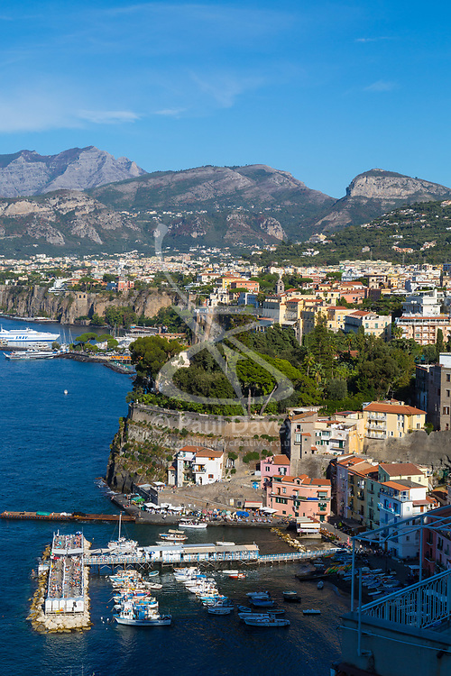 Sorrento, Italy, September 18 2017. The high peaks of Monti Lattari look down on Sorrento, Italy, as it basks in the afternoon sunshine. © Paul Davey
