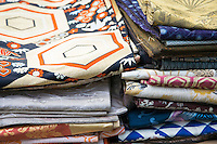 Second hand Silk Obi or Kimono sashes are a popular item at shrine markets throughout Japan, not only for wearing with kimono but for decorative purposes such as wall hangings.