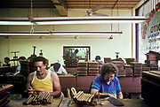 "A Cuban cigar factory in ""Little Havana"" in  Miami city wher most of the exiled Cuban community live, USA"