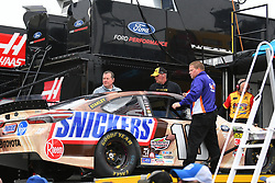 February 23, 2019 - Hampton, GA, U.S. - HAMPTON, GA - FEBRUARY 23: The team of Kyle Busch, Joe Gibbs Racing, Toyota Camry Snickers Creamy (18) brings out a backup car after the primary car was crashed during practice for the Monster Energy Cup Series QuikTrip Folds of Honor 500 on February 23, 2019, at Atlanta Motor Speedway in Hampton, GA.(Photo by Jeffrey Vest/Icon Sportswire) (Credit Image: © Jeffrey Vest/Icon SMI via ZUMA Press)
