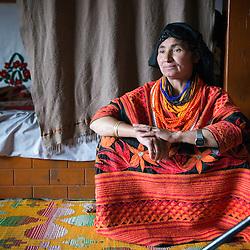 Bumburet, Chitral District,Pakistan.Pic Shows A Kalash woman in the Kalash village in Bumburet