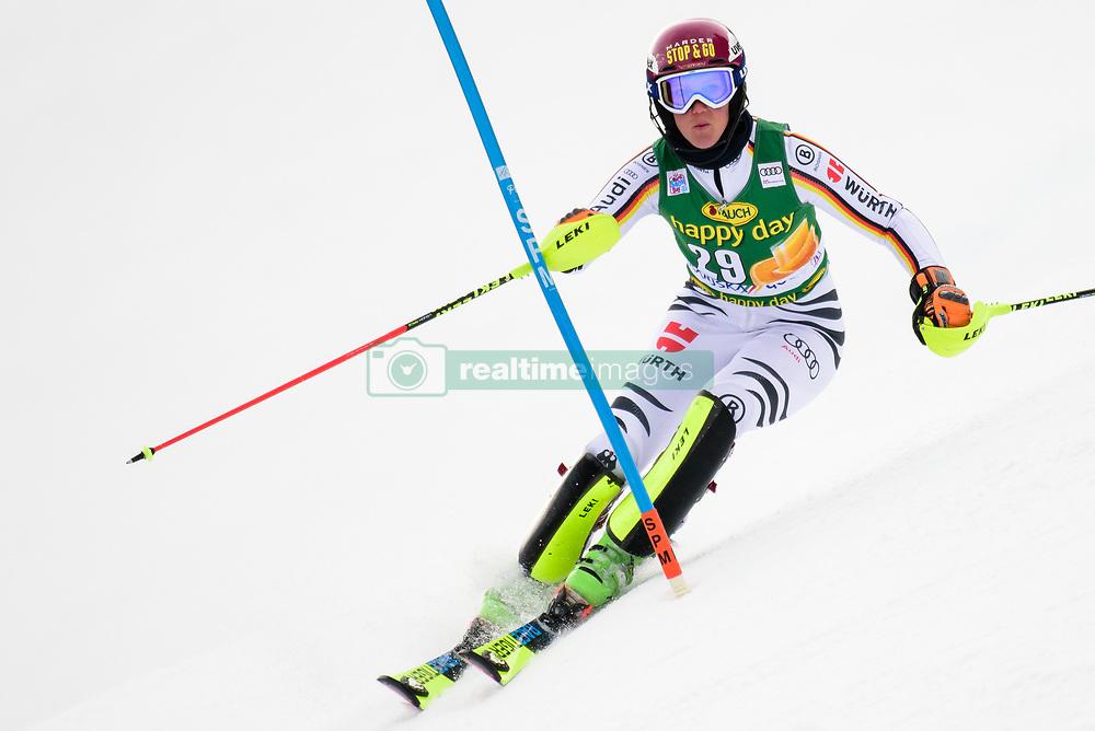 January 7, 2018 - Kranjska Gora, Gorenjska, Slovenia - Maren Wiesler of Germany competes on course during the Slalom race at the 54th Golden Fox FIS World Cup in Kranjska Gora, Slovenia on January 7, 2018. (Credit Image: © Rok Rakun/Pacific Press via ZUMA Wire)