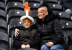 Hull City fans in the stands during the Sky Bet Championship match at the KCOM Stadium, Hull.