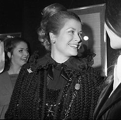 PRINCESS GRACE OF MONACO at an exhibition in London on 16th February 1973.