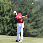 Keegan Bradley, USA, in action during the final round of the Travelers Championship at the TPC River Highlands, Cromwell, Connecticut, USA. 22nd June 2014. Photo Tim Clayton