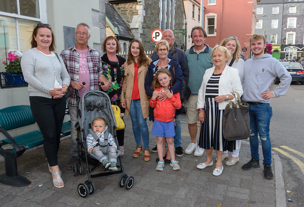 The Casserley family from Wales, Netherlands and Kinsale pictured at the Kinsale Regatta Emigrants' Welcome Home gathering at Temperance Hall.<br /> Picture. John Allen