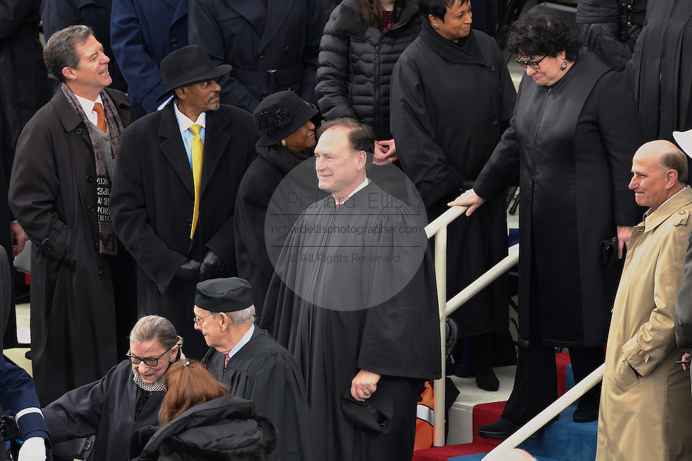 Supreme Court Justices arrive for the 68th President Inaugural Ceremony on Capitol Hill January 20, 2017 in Washington, DC. Left to Right: Ruth Bader Ginsburg, Stephen Breyer, Anthony Kennedy and Sonia Sotomayor.