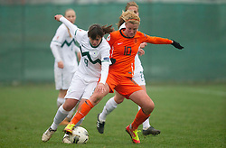 19-11-2011 VOETBAL: EK 2013 KWALIFICATIE VROUWEN: SLOVENIE - NEDERLAND: IVANCNA GORICA<br /> Barbara Kralj of Slovenia vs Kirsten van de Ven of Netherlands  during football match between Women national teams of Slovenia and Netherlands in 4th Round of EURO 2013 Qualification<br /> ©2011-FotoHoogendoorn.nl/Vid Ponikvar