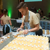 Cake of Hungary is seen being served at the gastronomy festival Street of Hungarian Tastes connected to the national holiday of the state foundation in Budapest, Hungary on Aug. 21, 2021. ATTILA VOLGYI