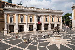 View of the Capitolini Museums at  Palazzo dei Conservatori,,Rome, Italy