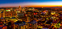 Panoramic view of Sandton, Johannesburg, South Africa.