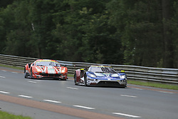 June 16, 2018 - Le Mans, FRANCE - 69 FORD CHIP GANASSI TEAM USA (USA) FORD GT GTE PRO RYAN BRISCOE (AUS) RICHARD WESTBROOK (GBR) SCOTT DIXON  (Credit Image: © Panoramic via ZUMA Press)