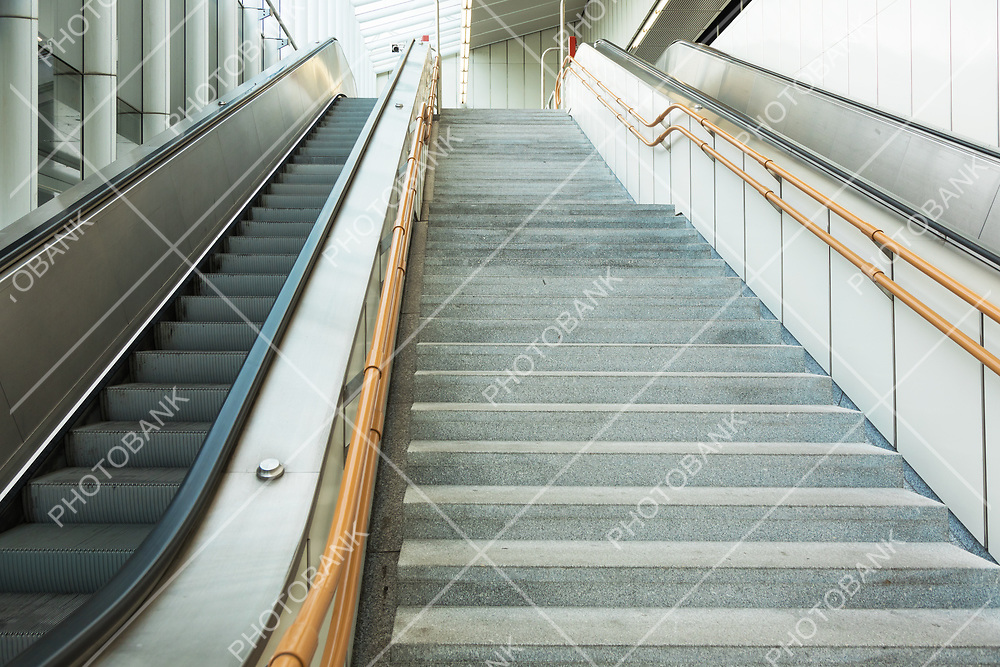 Close up staircase in subway