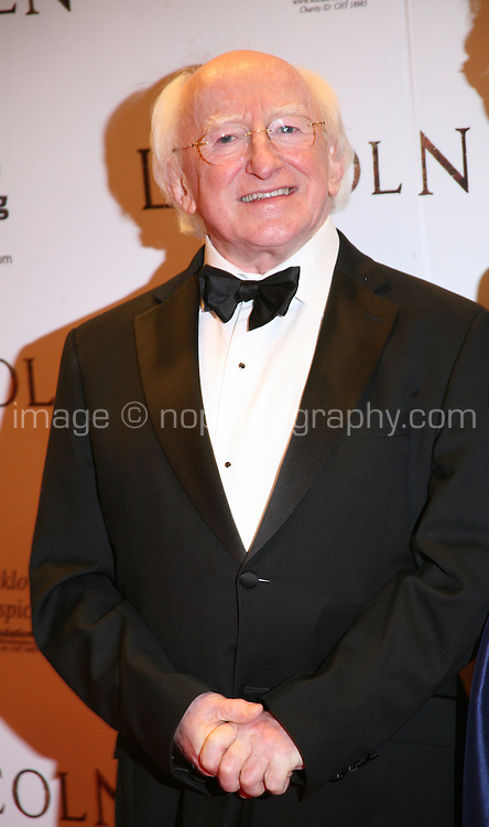 Irish President Michael D Higgins at the Lincoln film premiere Savoy Cinema in Dublin, Ireland. Sunday 20th January 2013.