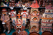 PERU, LIMA, MARKETS ceramic figures and folkart