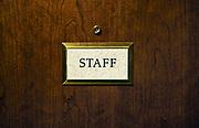 Staff sign.