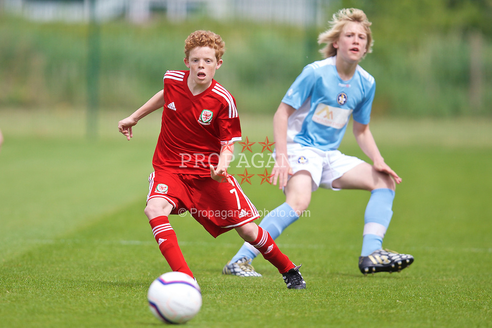 NEWPORT, WALES - Wednesday, May 27, 2015: Regional Development Boys' Lewis Clutton during the Welsh Football Trust Cymru Cup 2015 at Dragon Park. (Pic by David Rawcliffe/Propaganda)