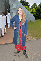 DAISY DE VILLENEUVE at a party hosted by fashion store COS to celebrate The Serpentine Park Nights 2016 held at The Serpentine Gallery, Kensington Gardens, London on 12th July 2016.