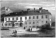 The House in which Mozart lived in Salzburg, late 18th century (c1890). Wolfgang Amadeus Mozart (1756-1791), Austrian composer.