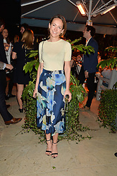 PICTURE SHOWS:-LAVINIA BRENNAN.<br /> Tuesday 14th April 2015 saw a host of London influencers and VIP faces gather together to celebrate the launch of The Ivy Chelsea Garden. Live entertainment was provided by jazz-trio The Blind Tigers, whilst guests enjoyed Moët & Chandon Champagne, alongside a series of delicious canapés created by the restaurant's Executive Chef, Sean Burbidge.<br /> The evening showcased The Ivy Chelsea Garden to two hundred VIPs and Chelsea<br /> residents, inviting guests to preview the restaurant and gardens which marry<br /> approachable sophistication and familiar luxury with an underlying feeling of glamour and theatre. The Ivy Chelsea Garden's interiors have been designed by Martin Brudnizki Design Studio, and cleverly combine vintage with luxury, resulting in a space that is both alluring and down-to-earth.