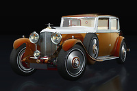 Bentley is the most imaginative British car brand. Bentley introduced many classy models and with these Bentley 8 litres it appealed to many wealthy people in the 1930s.<br /> <br /> This painting of the 1931 Bentley 8 liters can be printed very large on different materials.