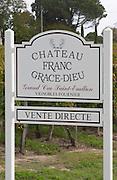 Chateau Franc Grace Dieu. Saint Emilion, Bordeaux, France