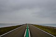 Nederland, Zeeland, Gemeente Reimerswaal en Tholen, 18-03-2016; Oesterdam. Foto richting Kreekraksluizen, links Schelde-Rijnverbinding, rechts Oosterschelde.<br /> <br /> copyright foto/photo Siebe Swart