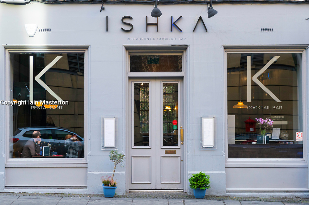Ishka restaurant and cocktail bar in Edinburgh West End in Scotland , United Kingdom