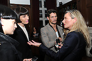 ERIN O'CONNOR; DAVID GANDY, London College of Fashion hosts party to celebrate the opening of Carmen: A Life in Fashion with guest of honour Carmen Dell'Orefice. Il Bottachio, Hyde Park Corner. London. 16 November 2011. <br /> <br />  , -DO NOT ARCHIVE-© Copyright Photograph by Dafydd Jones. 248 Clapham Rd. London SW9 0PZ. Tel 0207 820 0771. www.dafjones.com.