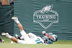 A training camp logo seen during the Philadelphia Eagles NFL training camp at Lehigh University on Saturday August 6th, 2011 in Bethlehem, Pennsylvania. (Photo By Brian Garfinkel)