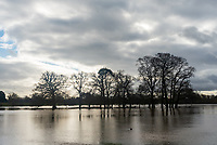 Flooded roads and fields in and around the villages of Hampton Lucy and Charlcotte near Stratford upon Avon photo mark anton smith