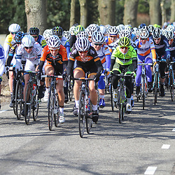 Energiewachttour Stage 2 Pekela-Veendam peloton just after the start of stage 2