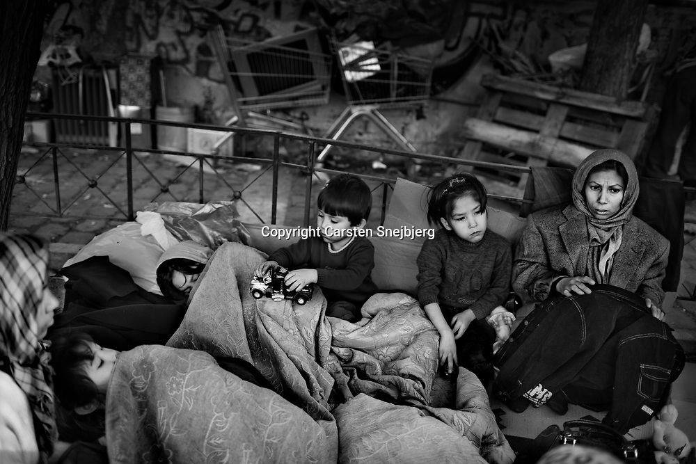 Two Afghan families have found a place to camp out in the streets of Athens, while they wait for an opportunity to travel onwards into the European Union. Greece has the lowest recognition rate of asylum seekers of all countries in the European Union. According to UNHCR, Greece has a backlog of up to 50,000 cases, and accepts less than one percent of all asylum applicants.