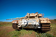 Israel, Golan Heights, Abandoned Syrian Tank from the 1973 war