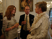 Lady Clementine Wallop, David Campbell and Candia McWilliam, Flora Fraser launch party for her book ' Princesses the Daughters of George 111' the Savile club, Brook St. 14 September 2004. SUPPLIED FOR ONE-TIME USE ONLY-DO NOT ARCHIVE. © Copyright Photograph by Dafydd Jones 66 Stockwell Park Rd. London SW9 0DA Tel 020 7733 0108 www.dafjones.com