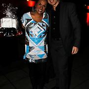 NLD/Blaricum/20100302 - Verrassing verjaardagparty Rachel Hazes in Blaricum, patty Brard en partner Antoine van de Vijver