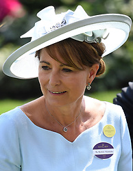 Members of The Royal Family attend the first day of Royal Ascot at Ascot Racecourse, Ascot, Berkshire, UK, on the 20th June 2017. 20 Jun 2017 Pictured: Carole Middleton. Photo credit: James Whatling / MEGA TheMegaAgency.com +1 888 505 6342