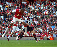 Photo: Ed Godden.<br />Arsenal v Sheffield United. The Barclays Premiership. 23/09/2006. Thierry Henry scores for Arsenal.