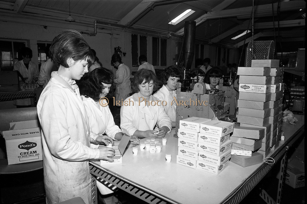 18/11/1964<br /> 11/23/1964<br /> 18 November 1964<br /> <br /> Girls working at the Caping and Labeling Section at the Cheesborough Ponds factory in Dublin