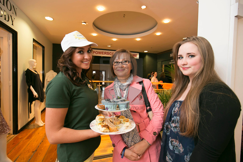 Eimear Woods with Siobhan and Eva Brennan from Walkinstown
