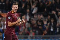 Esultanza Gol Edin Dzeko Roma 3-0 Goal celebration <br /> Roma 23-10-2016  Stadio Olimpico <br /> Football Calcio Serie A 2016/2017 AS Roma - Palermo <br /> Foto Andrea Staccioli / Insidefoto