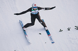 31.12.2019, Olympiaschanze, Garmisch Partenkirchen, GER, FIS Weltcup Skisprung, Vierschanzentournee, Garmisch Partenkirchen, Qualifikation, im Bild Marius Lindvik (NOR) // Marius Lindvik of Norway during his qualification Jump for the Four Hills Tournament of FIS Ski Jumping World Cup at the Olympiaschanze in Garmisch Partenkirchen, Germany on 2019/12/31. EXPA Pictures © 2019, PhotoCredit: EXPA/ JFK