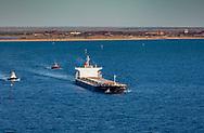 Iron Ore carrier leaves Port Hedland, Western Australia